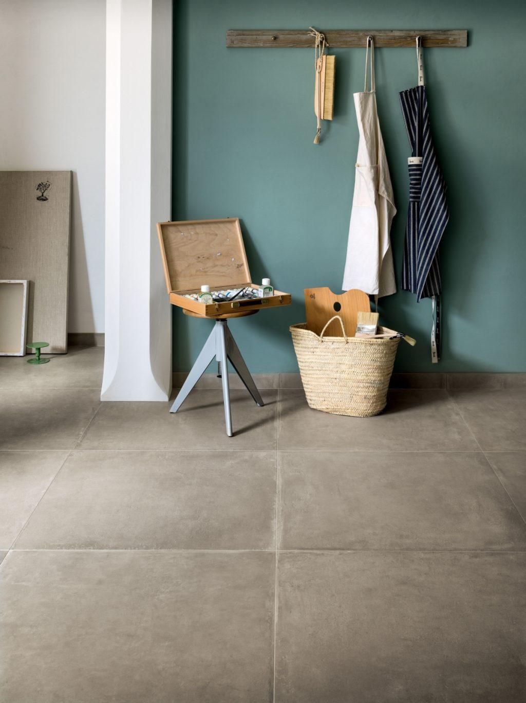 Ceramics concrete effect claymood sand 80x80cm