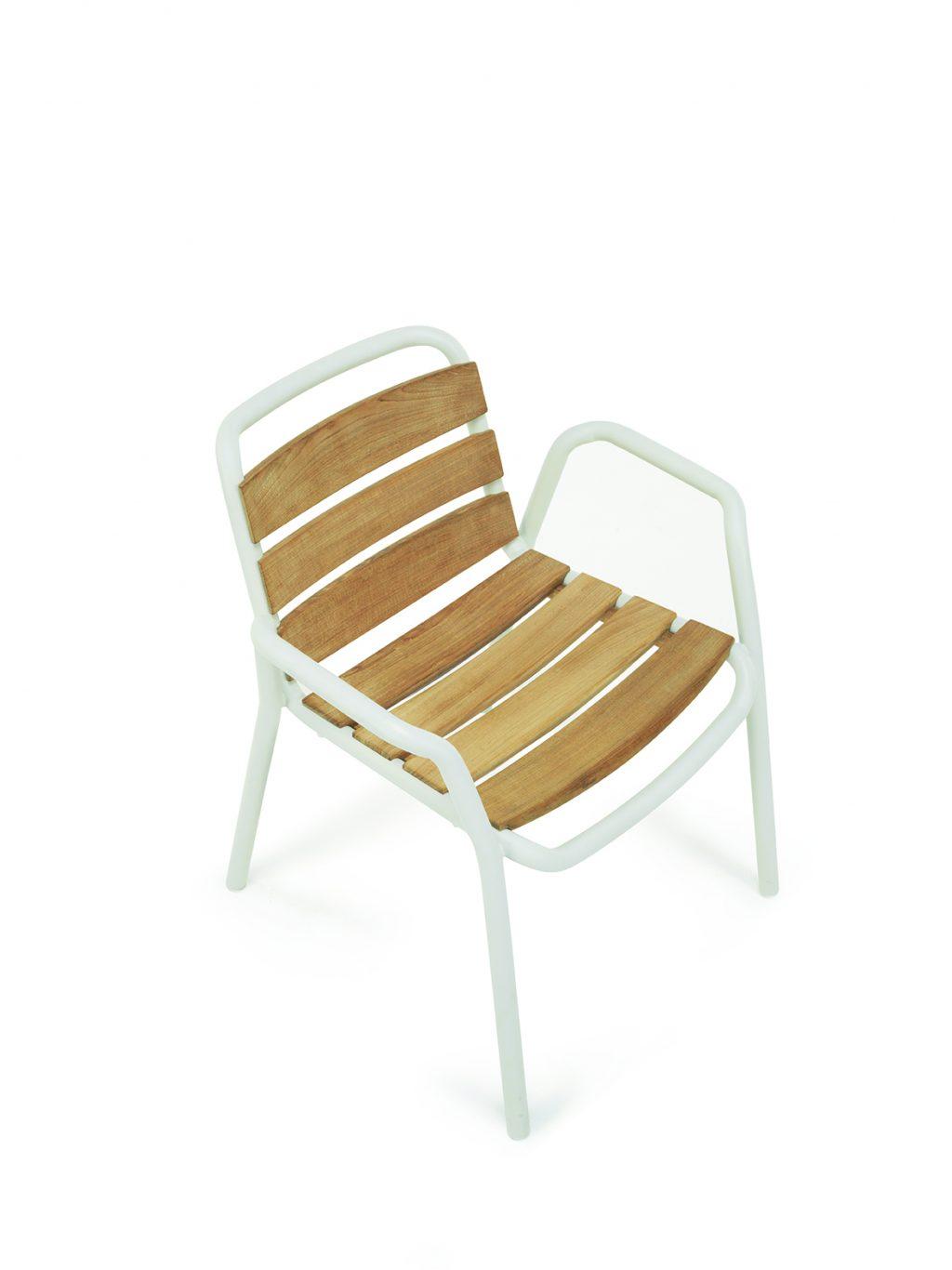 Βελονιά με δικτυωτά τικ καρέκλα τραπεζαρίας