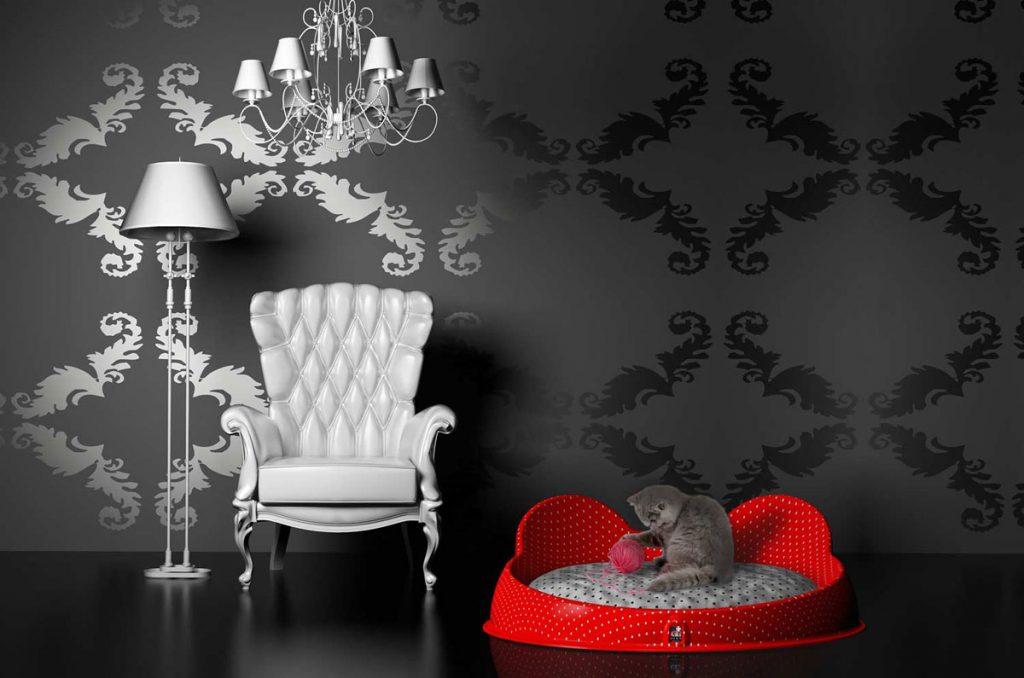 DDplus 4U κατοικίδιο ζώο κρεβάτι κόκκινο