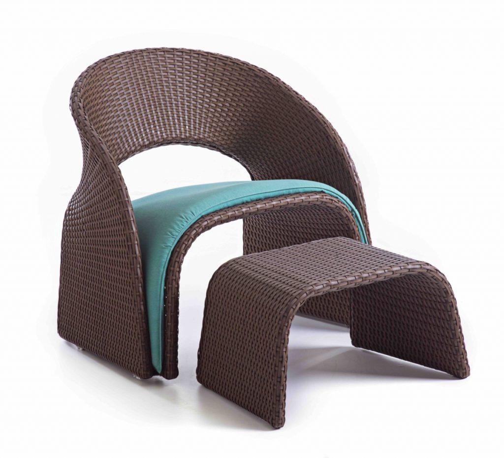 Lattoog armchair Marapendi and Puff Marapendi
