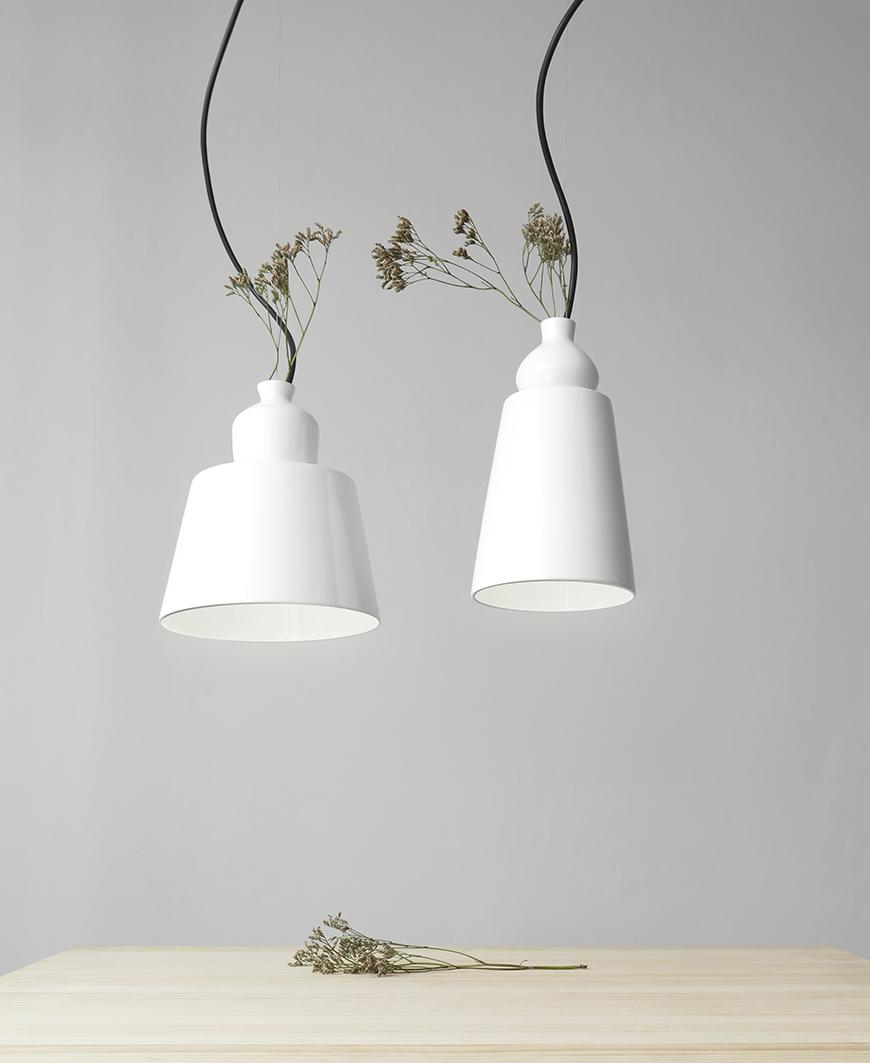 Numbered lamparas de ceramic Martin Azua