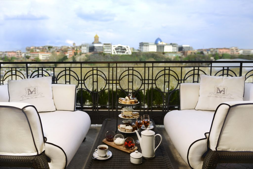 Presidential Suite Terrace with views over Tbilisi