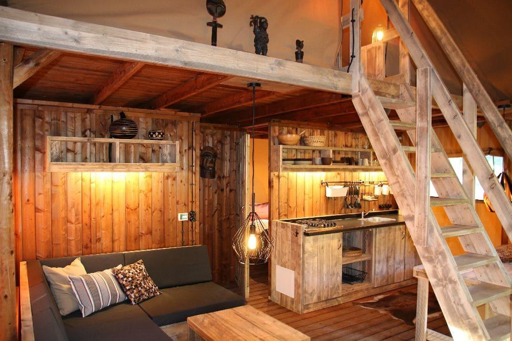 luxententen glamping lodge interior