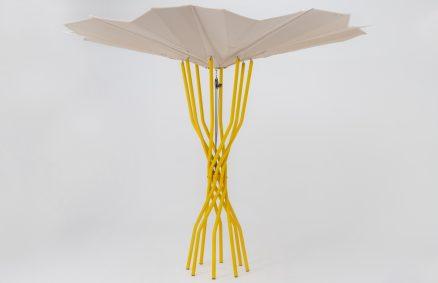 Payung fotovoltaik lido lestari Sammontana masa depan, reka bentuk Carlo Ratti Associati