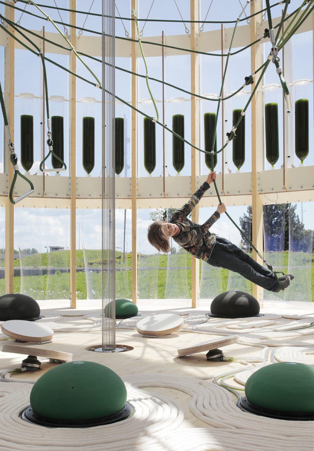 AirBubble biyoteknolojik lakou rekreyasyon - ecoLogicStudio