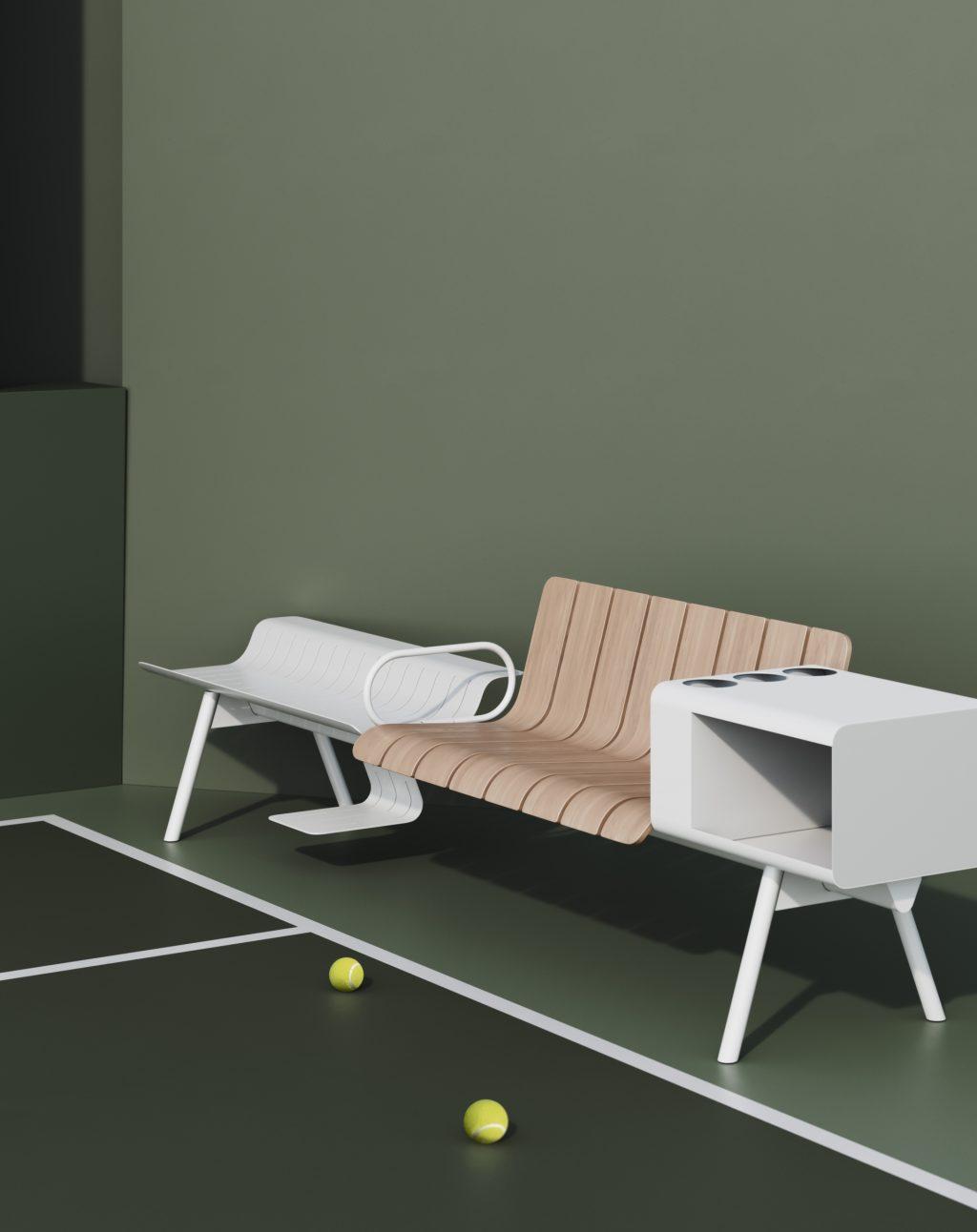 Ace Patrick Norguet αθλητικοί σταθμοί και συλλογή καθισμάτων για Ethimo